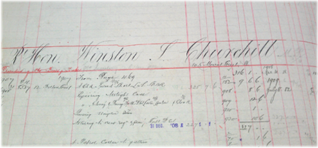 Winston Churcill ledger