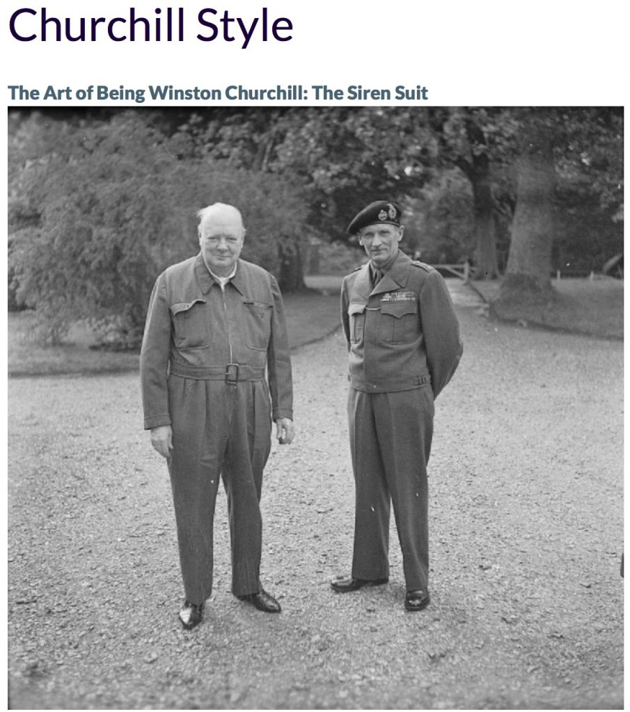 WINSTON CHURCHILL & HIS SIREN SUIT: Churchill Style in The ...